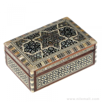 Mother of Pearl Inlaid Rectangular Jewelry Box