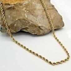 18k Gold Diamond Cut Rope Chain