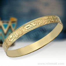 Egyptian 18k Gold Bracelets Jewelry