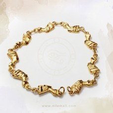 18k Gold Queen Nefertiti Link Bracelet