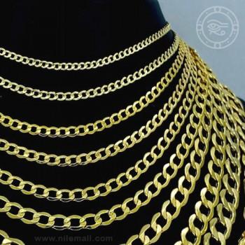 18k Gold Curb Link Cuban Chain