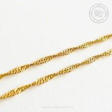 18k Gold Singapore Twist Chain