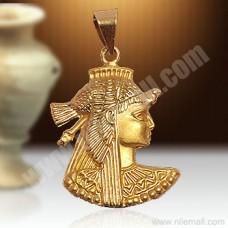 18K Gold Cleopatra Pendant