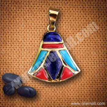 18K Gold Royal Lotus Flower Pendant with Colored Enamel