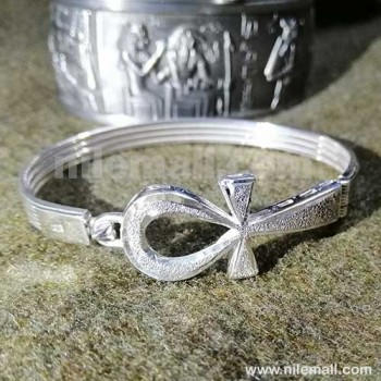 Silver Egyptian Handmade Ankh Bracelet