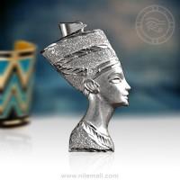 Royal Silver Nefertiti Pendant