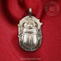 Winged Silver Scarab Pendant