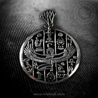 Isis Hollow Silver Pendant