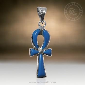 Royal Turquoise Ankh Key Pendant